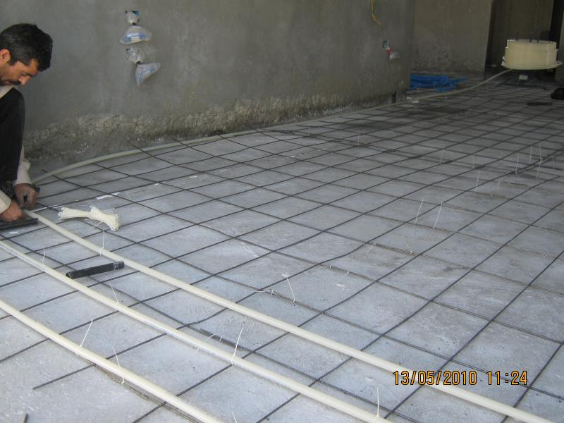 We preform underfloor heating works using Pex pipes from the beat european brand
